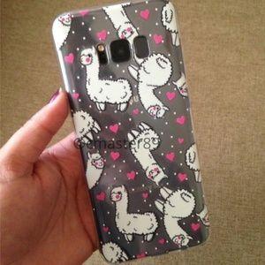 Alpaca & Hearts Samsung S8 + Phone Case